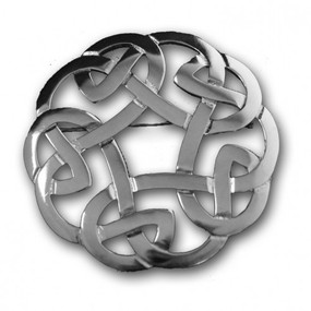 Plaid Brooch Celtic Interlace 247
