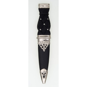 Sgian Dubh SD DPS Deluxe Polished Top with Studded Handle