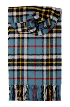 Thompson Blue Tartan Scarf Lambswool