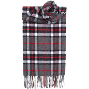 Thompson Grey Tartan Scarf Lambswool