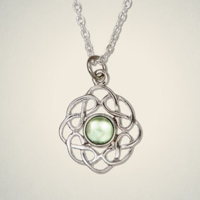 "Pendant August (Peridot) 3/4"" Diameter"