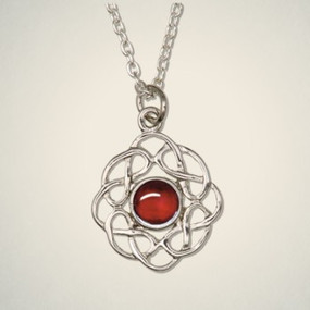 "Pendant July (Ruby) 3/4"" Diameter"