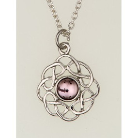"Pendant June (Light Amethyst) 3/4"" Diameter"