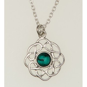 "Pendant May (Emerald) 3/4"" Diameter"