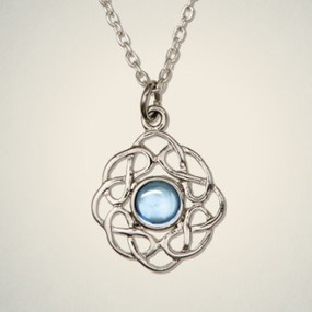 "Pendant March (Aquamarine) 3/4"" Diameter"