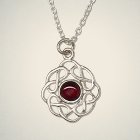 "Pendant January (Garnet) 3/4"" Diameter"