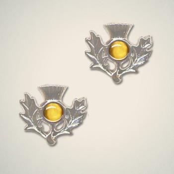Thistle Earrings November (Topaz)