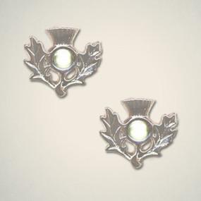 Thistle Earrings August (Peridot)