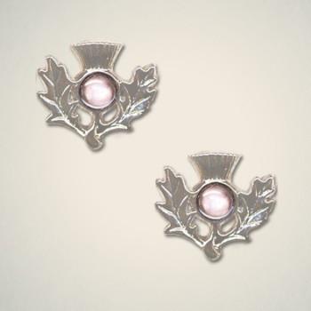 Thistle Earrings June (Light Amethyst)