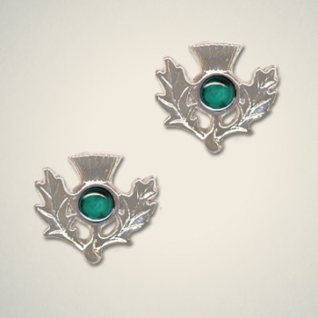 Thistle Earrings May (Emerald)