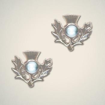 Thistle Earrings March (Aquamarine)