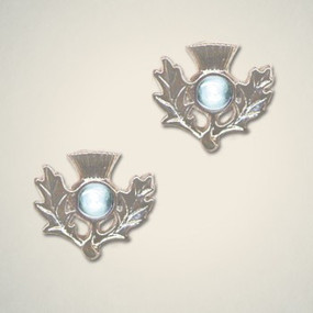 Thistle Earrings March (Aquamarine)