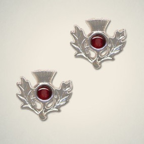 Thistle Earrings January (Garnet)