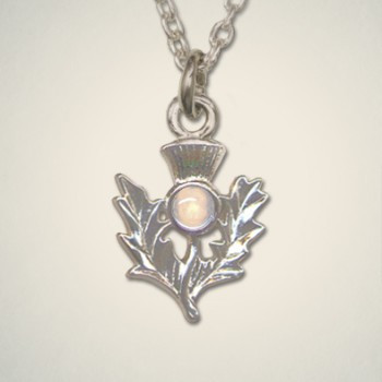Thistle Pendant October (Opal)