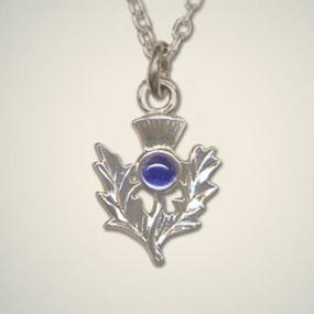 Thistle Pendant September (Sapphire)