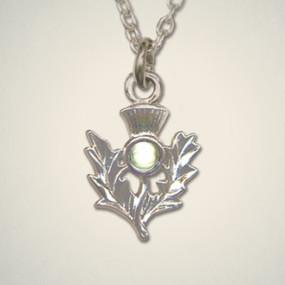 Thistle Pendant August (Peridot)