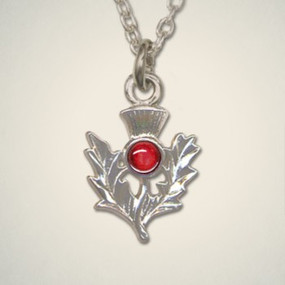 Thistle Pendant July (Ruby)