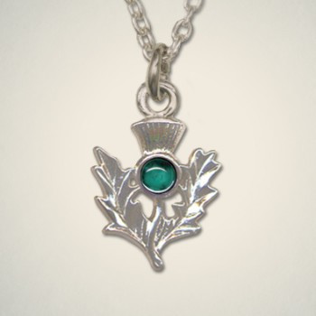 Thistle Pendant May (Emerald)