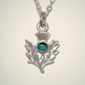 Thistle Pendant May (Emerald)
