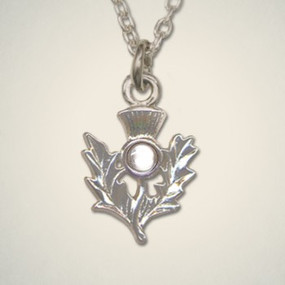 Thistle Pendant April (Crystal)