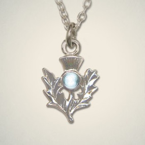 Thistle Pendant March (Aquamarine)