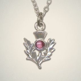 Thistle Pendant February (Amethyst)