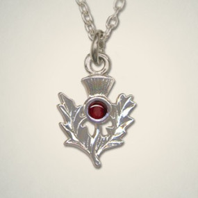 Thistle Pendant January (Garnet)