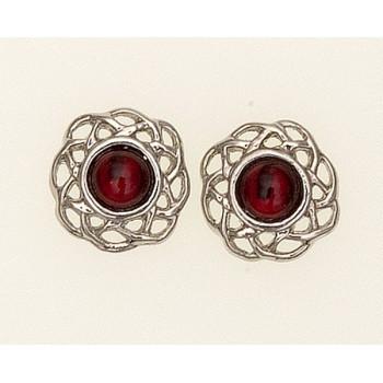 Earrings January (Garnet)