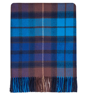 Buchanan Blue Lambswool Blanket