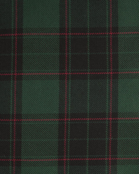 THOMSON (BLACK)  POLYVISCOSE TARTAN FABRIC