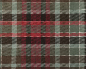 GORDON (RED)  POLYVISCOSE TARTAN FABRIC