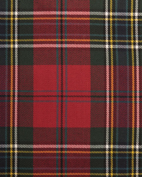 MACLEAN OF DUART WEATHERED  POLYVISCOSE TARTAN FABRIC