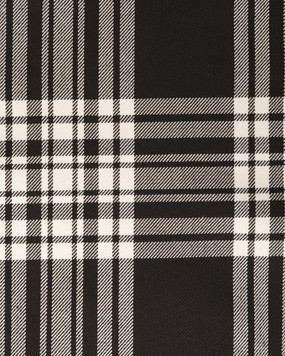 MANZIES (BLACK)  POLYVISCOSE TARTAN FABRIC