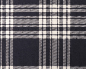 MENZIES (NAVY)  POLYVISCOSE TARTAN FABRIC