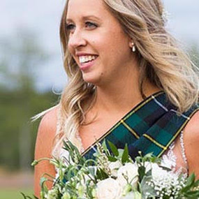 Tartan wedding sash