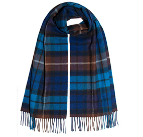 DARWIN BUCHANAN BLUE LUXURY OVERSIZED LAMBSWOOL SCARF