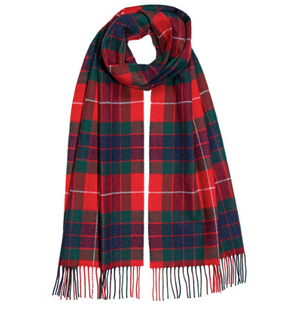 FRASER RED MODERN LUXURY OVERSIZED LAMBSWOOL SCARF