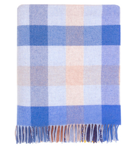 Langholm Feather Check Wool blanket