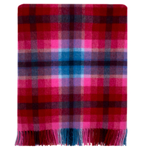 Lenzie Sunset Plaid Wool Blanket