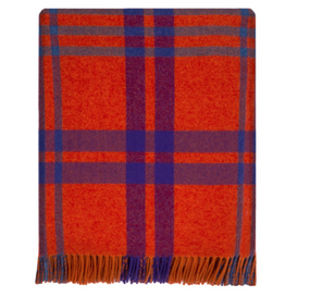 Leadhills Plaid Wool Blanket
