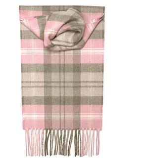 Baird Pink Tartan Luxury Cashmere Scarf