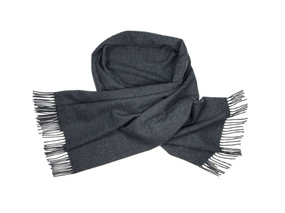 Charcoal Lambswool Stole