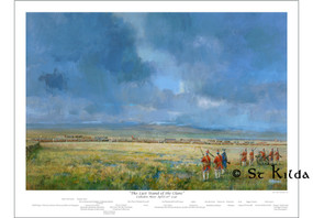 "The Battle of Culloden - Last Stand of the Clans (23.5"" x 16.5"")"