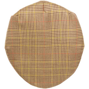 CRAIL CHECK TWEED BARNTON FLAT CAP
