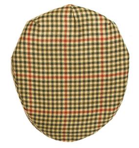 ST ABBS CHECK TWEED BARNTON FLAT CAP