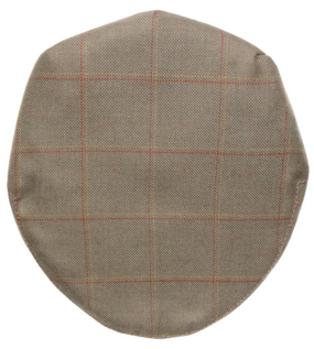 OBAN CHECK TWEED BARNTON FLAT CAP