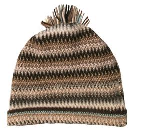 Coffee Shop Zig Zag Wool/Angora Knitted Hat