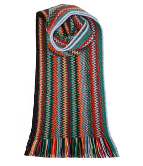 Pheasant Zig Zag Wool/Angora Knitted Scarf