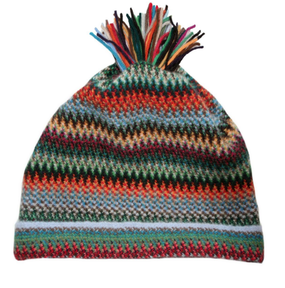 Pheasant Zig Zag Wool/Angora Knitted Hat