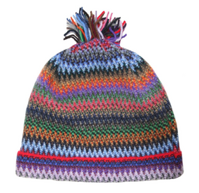 Tropic Zig Zag Wool/Angora Knitted Hat